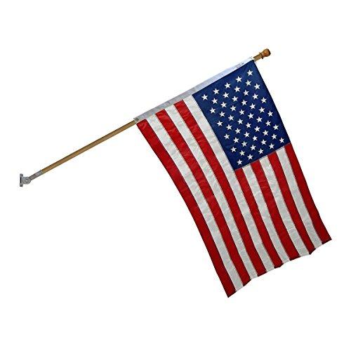 Online Stores Super Tough Nylon Flagpole Kit (6 Ft (Hardwood Flagpole)