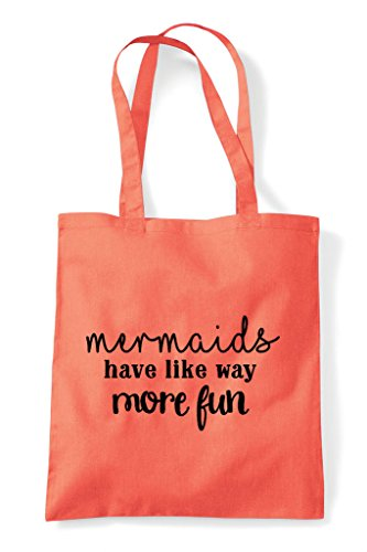 Fun Tote Bag Shopper More Coral Statement Have Way Mermaids OwqpSS