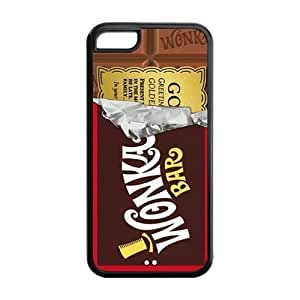 Wonka Bar Design Solid Rubber Customized Cover Case for iPhone 5c 5c-linda258
