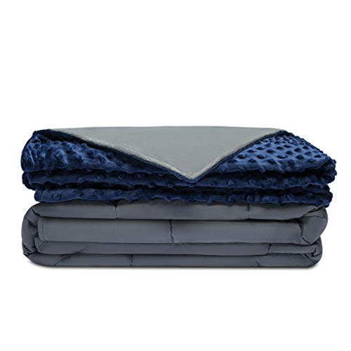 1. Quility Premium Weighted Blanket & Removable Cover