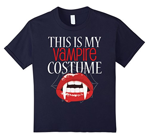 Kids This Is My Vampire Costume T-Shirt Halloween 12 Navy