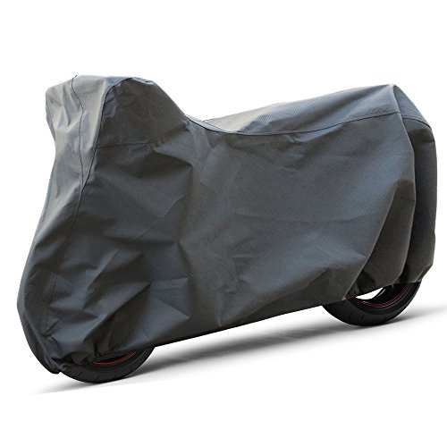 OxGord Signature Motorcycle Cover - 100% Water-Proof 5 Layers - Ready-Fit / Semi Custom - Fits up to 80 Inches ()