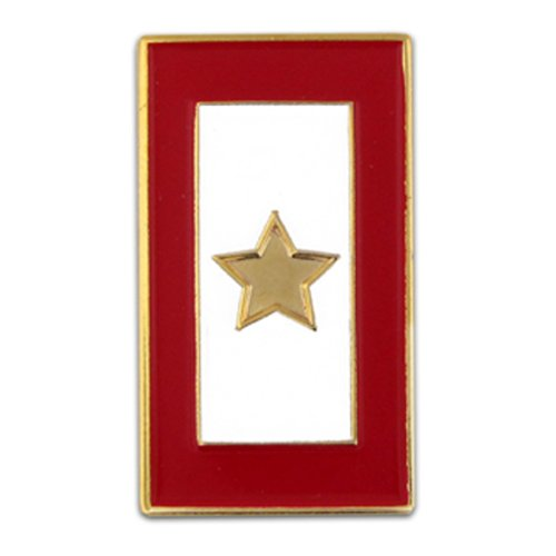 PinMart Gold Star Service Flag for a Fallen Soldier Enamel Lapel Pin