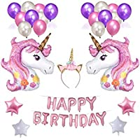 39pcs/Set Unicorn Balloon Party Supplies banner Paper Tassel Garland For Birthday Party Decorations Air Ball Unicorn Party Favors Baby Shower