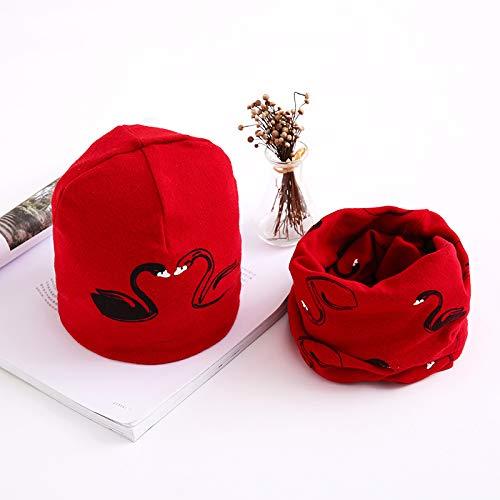 bb90592cf649 Hosaire Ensemble Echarpe Bonnet Enfants Hiver Chapeau Motif Grue blanche  Bébé Tricoté Bonnet Foulard Crochet Béret Casquette pour Enfants Automne et  Hiver ...