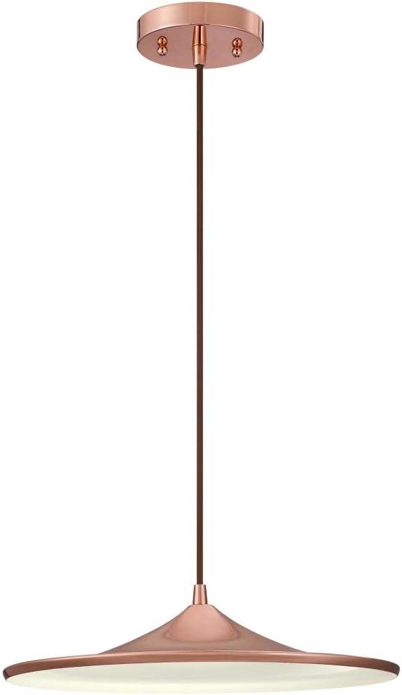 Westinghouse Lighting cobre 63626 Luminaria colgante de interior de una lámpara LED regulable, acabado, 15 W, Diametro: 36 cm: Amazon.es: Iluminación