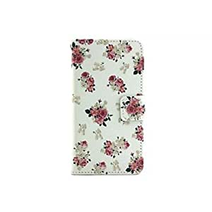 zxc Peony Flower Pattern PU Leather Full Body Cases for Samsung Galaxy A5