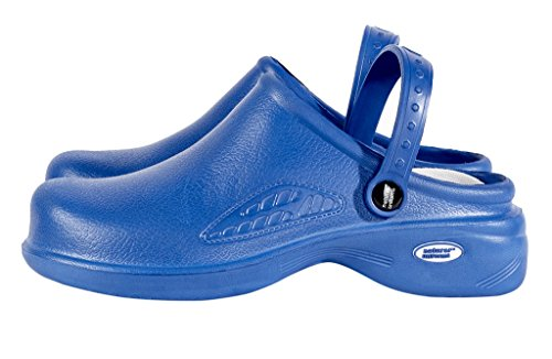 Uniformes Naturels M & M Gommages - Womens Légers Infirmière Chaussures / Sabots Dallaitement Royal Blue