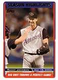 2005 Topps Baseball #332 Randy Johnson Throws Perfect Game Card