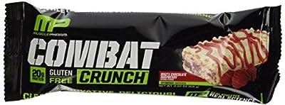 Mp Muscle Pharm Combat Crunch Snack Bar, White Chocolate Raspberry, 4 Bars