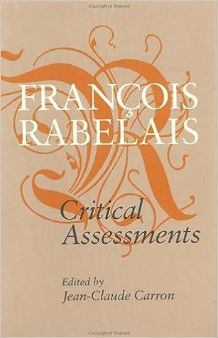 Image result for François Rabelais: Critical Assessments