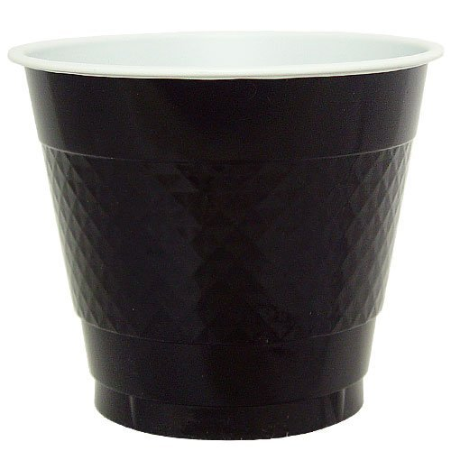 Hanna K. Signature Collection 50 Count Plastic Cup, 9-Ounce, Black