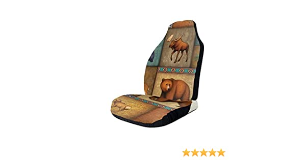 Moose Painting Low Seat Covers for Car and Truck Fits Most Low Back Seats for Car Uv and Heat Reflector