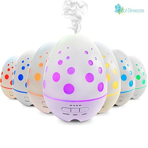 Aromatherapy Essential Oil Diffuser Large - Best Aroma Diffuser for Kids Room, Spa, Home - Ultrasonic Cool Mist Humidifier Runs 8 hrs Waterless Auto Shut-off 7 Color LED Lights-Summer Clearance