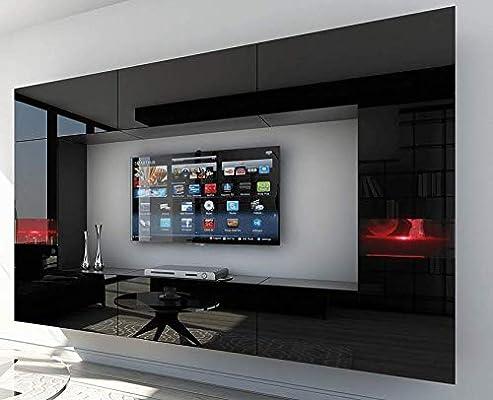 HomeDirectLTD Future 29, Conjunto de Muebles De Salón, Módulo Bajo para TV Y Multimedia, Unidad de Entretenimiento, Mueble TV, Suite a Estrenar (Iluminación RGB LED Opcional) (29_HG_B_1, Verde LED): Amazon.es: Hogar
