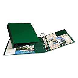 Avery Dennison 79782 Heavy-Duty Vinyl EZD Ring Reference Binder, 2 in. Capacity, Green