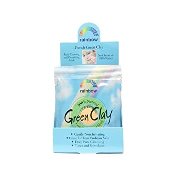 French Green Clay Facial Mask Powder - 0.75 oz. by Rainbow Research (pack of 6) 2 Pack Free & Clear Liquid Cleanser Refill for Sensitive Skin 32 Oz Each