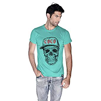 Creo Black Red Coco Skull T-Shirt For Men - Xl, Green