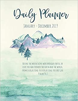 Daily Planner January - December 2019: Watercolor Nature Art ...
