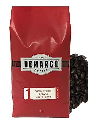 Demarco Coffee Whole Bean Micro Roasted Hand Blended premium Coffee Beans - Roasting Small batches [150lb or Less] Daily in NY - (2LB)