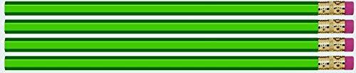 Green Hexagon #2 Pencil, Eraser. 36 Pack. Express Pencils TM