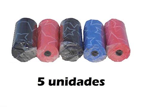 Bolsas higiénicas para cacas excrementos perros 5 rollos (100 unidades)