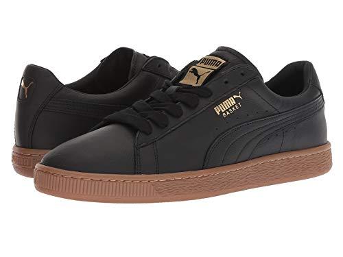 [PUMA(プーマ)] メンズランニングシューズ?スニーカー?靴 Basket Classic Gum Deluxe Puma Black/Metallic Gold 4.5 (22.5cm) D - Medium