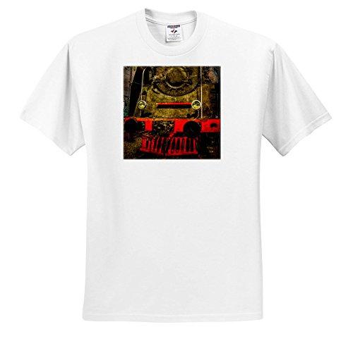 raphy - Transport Railroad - Retired Heavy Duty Steam Locomotive. Stylized Photo - T-Shirts - Youth T-Shirt Small(6-8) (ts_270619_12) ()