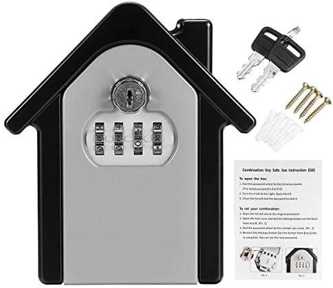 BZM-ZM 2つのキー4パスワードキーロックストレージボックスウォールマウントホルダーコンビネーション安全パーツオーガナイザードアハードウェアおよびロックでハードウェア、