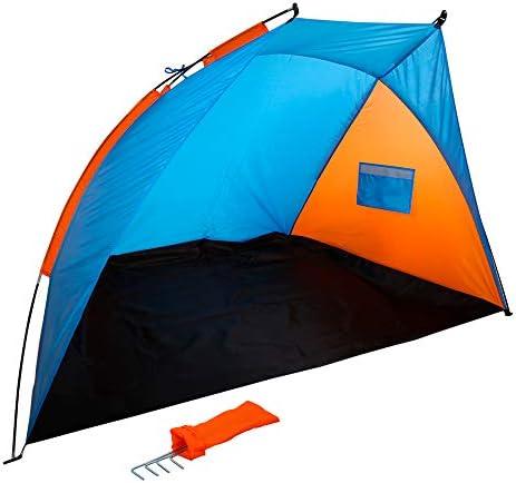 Aktive 62137 Windschutz Beach, 200 x 125 x 120 cm, blau/orange