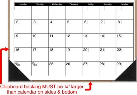 StoreSMART Peel and Stick Calendar Corners - Black Plastic - 500 Pack - STB1336BK-500 by STORE SMART (Image #3)