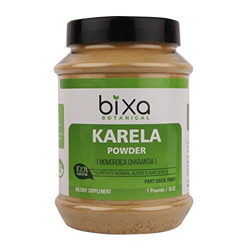 Bitter Melon Powder - 1 pound / 16 Oz (Momordica Charantia/Karela Fruit powder) | Ayurvedic herb for Blood Sugar Control & improves liver function | Herbal supplement for Skin and (Ayurvedic Liver)