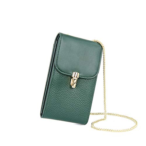 pelle Cross diagonale di Bag Borsa borsetta catena Green GSHGA Tote in litchi qY8xE