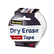 Scotch Dry Erase Tape, White, 1.88-Inch x 5-Yard