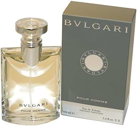 Bvlgari Pour Homme Eau de Toilette Spray for Men, 3.4 Fluid Ounce