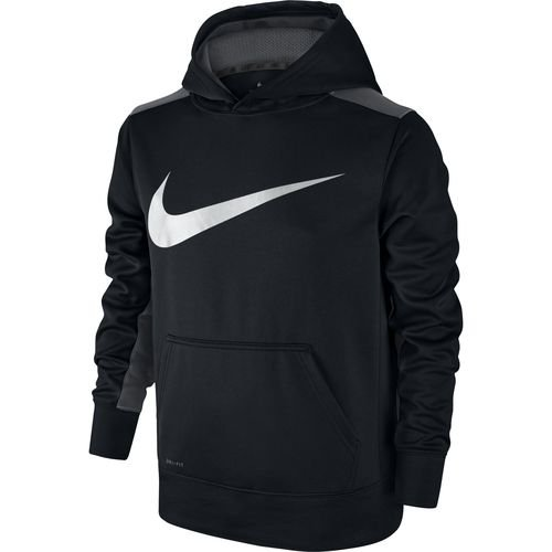 Nike Therma Big Kids' (Boys') Training Hoodie (Small, Black/Dark Grey)