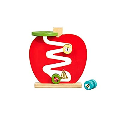 Petit Collage Eco-Friendly Wooden Apple Racer Toddler Toy, 12 Months+: Toys & Games