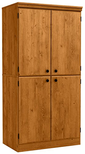 South Shore Morgan 4-Door Storage Cabinet, Country Pine Wood Pantry