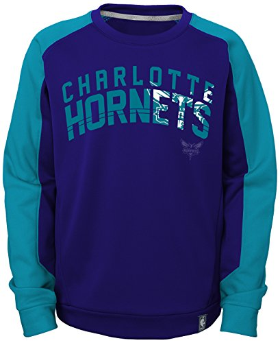 "NBA Charlotte Hornets Kids & Youth Boys ""Back Court Crew"" Fleece, Hornets Purple, L(14-16)"