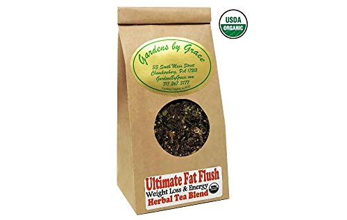 Ultimate Fat Flush | Weight Loss, Detox, Cleanse, Metabolism Booster, Appetite Suppressant, Cellulite Release, Fat Burner | Organic, Slimming Tea, Loose Leaf, 4 oz Review