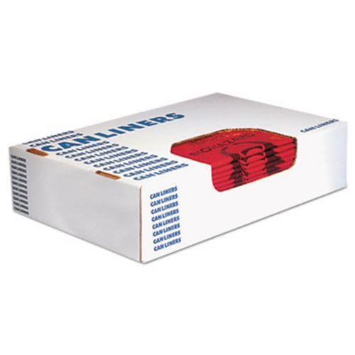 (Heritage A4823PR Healthcare Biohazard Printed Can Liners, 8-10 gal, 1.3mil, 24 x 23, Red,500/CT,)