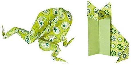 50 Fogli Vari Motivi Folia Bringmann 15X15Cm Carta per Origami Verde
