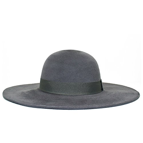 Brushed Felt Floppy Hat (Grey)