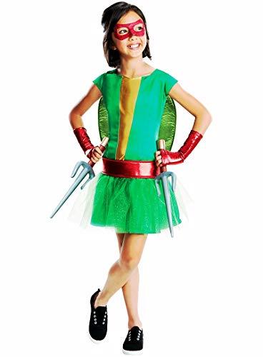 HalloCostume Girls Raphael Costume Deluxe - Teenage Mutant Ninja Turtles, Halloween Costumes for Girls