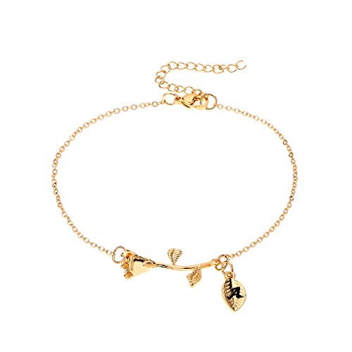 Rose Flower Pendant Necklace Gold Plated Initial Necklace Lovers Friendship Gift Jewelry for Women