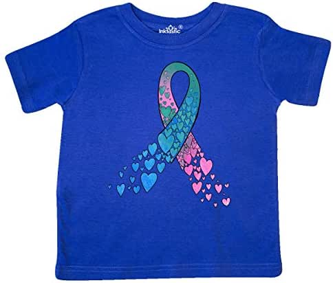 Inktastic Thyroid Cancer Awareness with Heart Ribbon Toddler T-Shirt