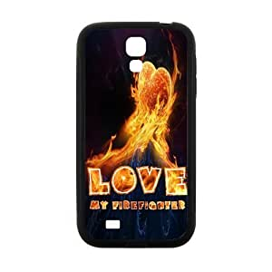 Zyhome Galaxy S4 Cool Fire Love My Firefighter Case Cover for SamSung Galaxy S4 I9500 (Laser Technology) by ruishername