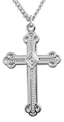 High Polish Cross Necklace - 9