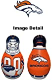 """Denver Broncos NFL Team Logo Double Sided Bop Bag Tackle Tackling Buddy Pal Inflatable Punching Bag - 40"""" Inches Tall"""