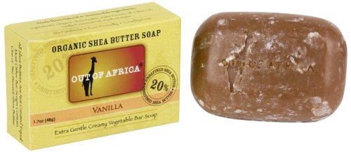 Out Of Africa Vanilla Shea Butter Bar Soap, 4 Ounce Boxes